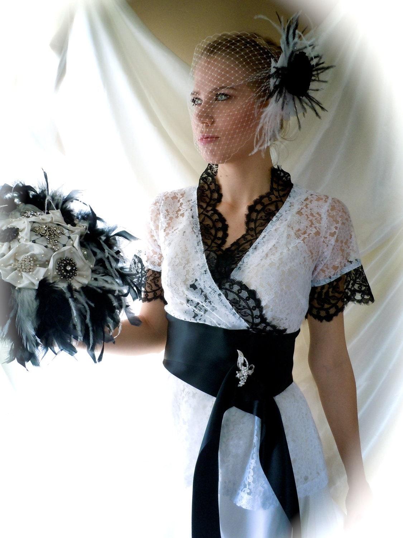 Wedding Gown Wedding Dress Black & White Wedding Dress