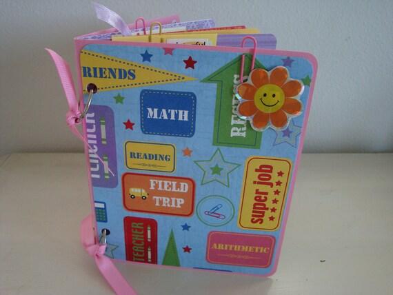 Kindergarten Graduation Scrapbook.  Mini Album. Photo Album. Elementary School. Kids. Girl.