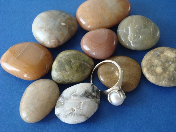 Sea Tumbled Rocks, Stones for jewelry making, crafting, beach decor, supplies, destash