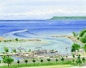Agatna Harbor on Guam
