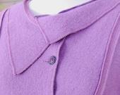 Fly Tie Jacket. wool. purple.