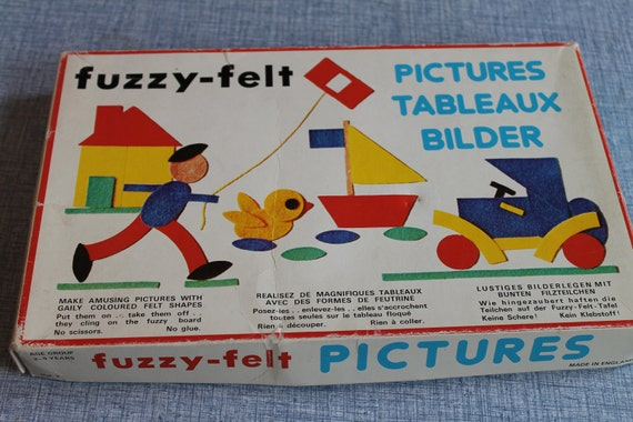 Vintage Fuzzy Felt Pictures  Make Pictures with Felt Shapes   England