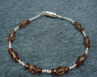 Tan Swarovski Carousel Bracelet