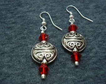 Red Velvet Celtic Earrings