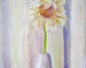 Still Life Painting Flower Art Daisy