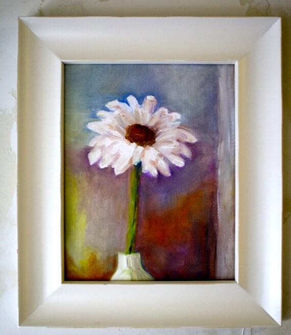 Original Oil Painting Flower - Floral Painting Daisy Still Life