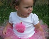 Tulle Cupcake Outfit 24M with or without number candles