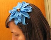 Blue petals headband