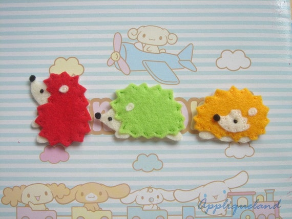 Set Of 6 pcs Handmade Felt Hedgehog