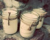 Soy Candles - 8 oz Mason Jars - Your Choice of THREE