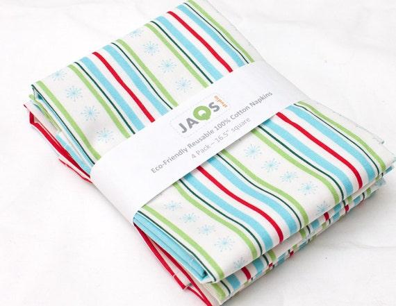 SALE - Eco-Friendly Large Cloth Napkins - Set of 4 - (N228)