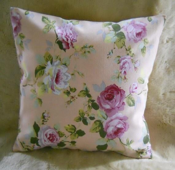 16X16 Decorative pillow  - Peach Rose cushion cover - Floral Rose pillow - pillow cover - throw pillow - decorative pillow slip