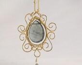 Moss Aquamarine pendant