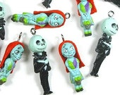 Jack Skellington Or Sally Plastic Charm Cool Gothic