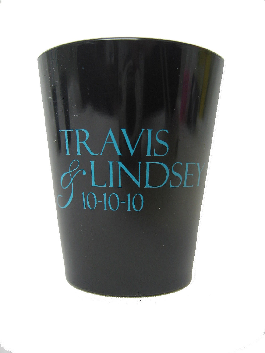 100 wedding favor custom personalized plastic shot glasses