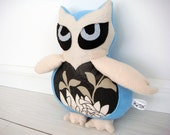Ice Owl - Soft Sculpture / Plushie