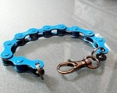 Bicycle Chain Bracelet Light Blue - BCLTBL
