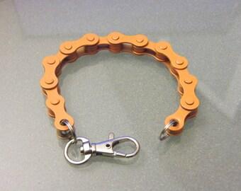 Bike Chain Bracelet Orange Harley - BCORNG