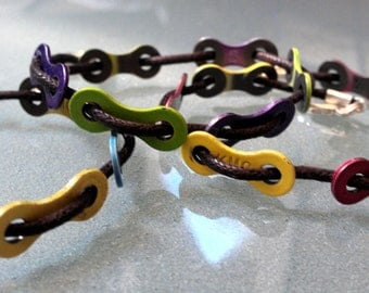 Bike Chain Link Color Cord Bracelet - LBCUCD