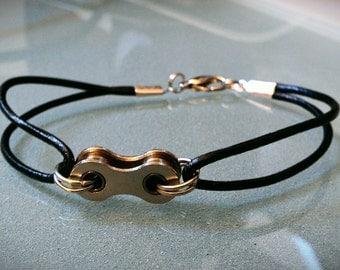 Bike Chain and Leather Bracelet - UBLTHLK