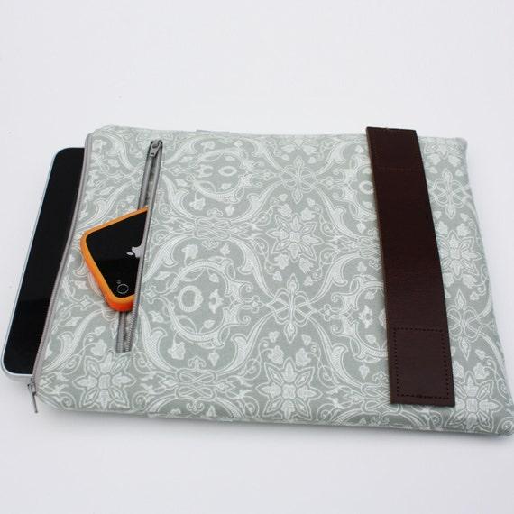 iPad Case / iPad Cover / iPad Sleeve:  in Gray Print