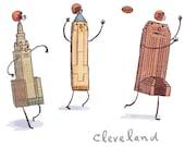 Cleveland Football Print