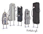 Pittsburgh Coffee Break 13x19