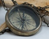 58 mm Big compass Necklace - Free Shipping