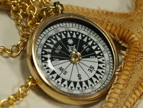 59 mm Antique Brass Big compass