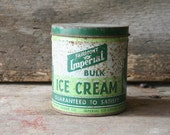 Vintage Imperial Strawberry Ice Cream Can