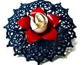 Retro Americana Flower Brooch USA