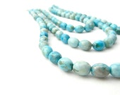 FLOCK.  aqua picture agate necklace in turquoise, teal, white and grey