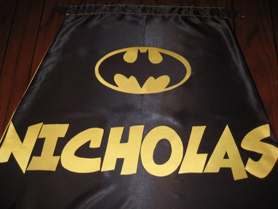 Personalized option for Super Hero Cape - Add to cart if you want to add name or 2nd logo