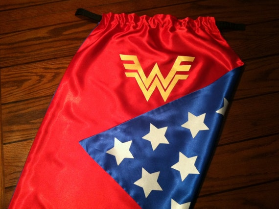 Wonder Woman Superhero Cape - Size LARGE (Child 6-10 years)