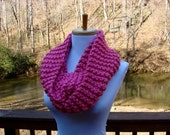 handmade PRETTY IN PINK circle scarf