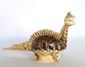VINTAGE KITSCH Shell Art DINOSAUR