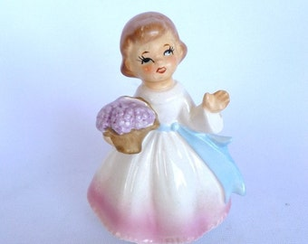 VINTAGE GIRL Waving FIGURINE