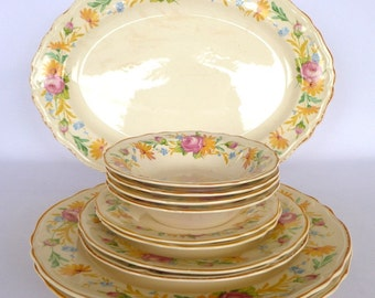 Vintage EDWIN KNOWLES DINNERWARE assortmant