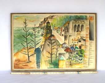 1960's Original Landscape Watercolor Art