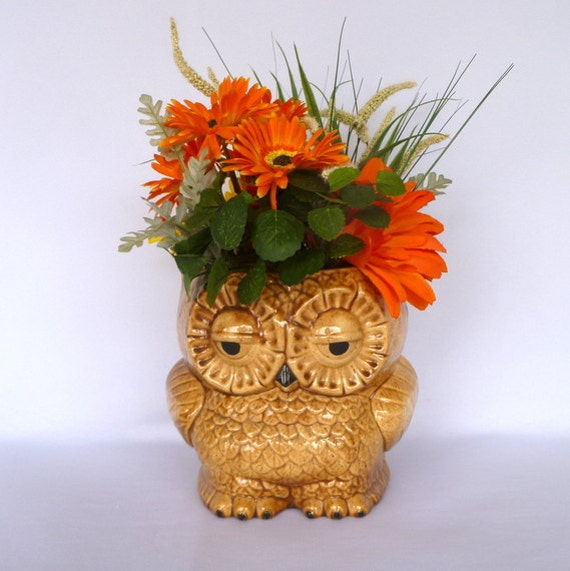 reserved for labster/ set of three  SLEEPY OWL VASES