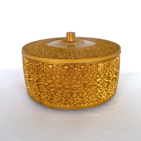 Vintage Powder Container is Glitzy Plastic Courtesy OrangeDoorVintage on Etsy