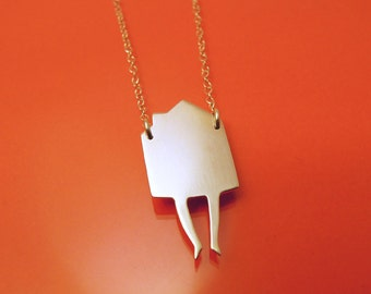 House on Feet necklace