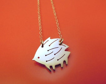 Hedgehog necklace / collier Hérisson