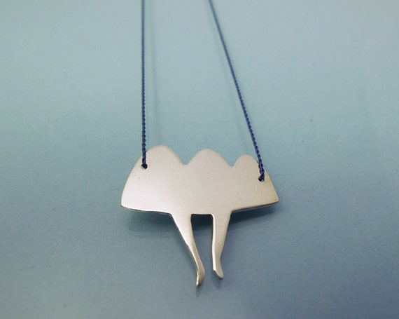 Cloud on Feet necklace