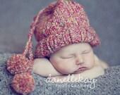Newborn Hat Cap with pom poms - Photography Prop