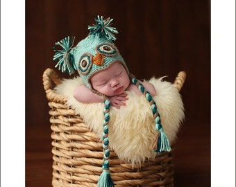Newborn Owl Hat- Photography Prop