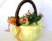 Here Comes The Autumn Bride Flower Girl Basket