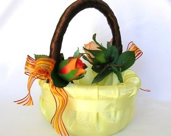 50% OFF, Last One, Here Comes The Autumn Bride Flower Girl Basket