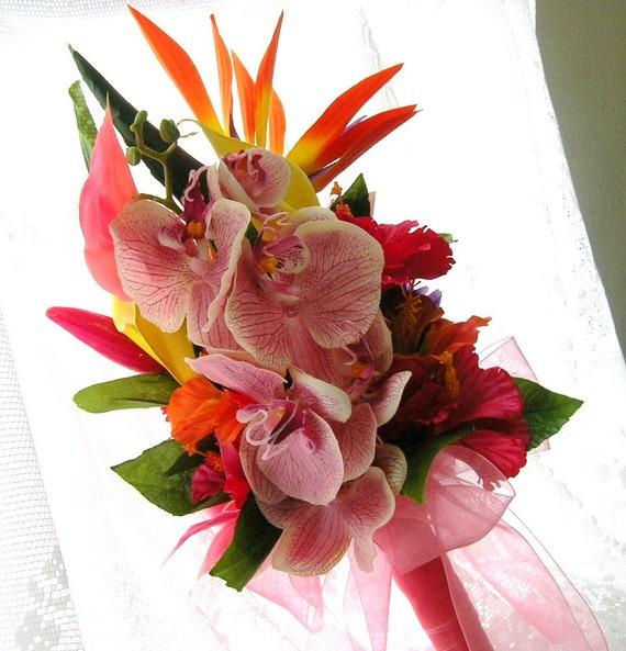 Tropical Paradise Bridal Bouquet For Destination Weddings or Beach / Tropical Themed Weddings
