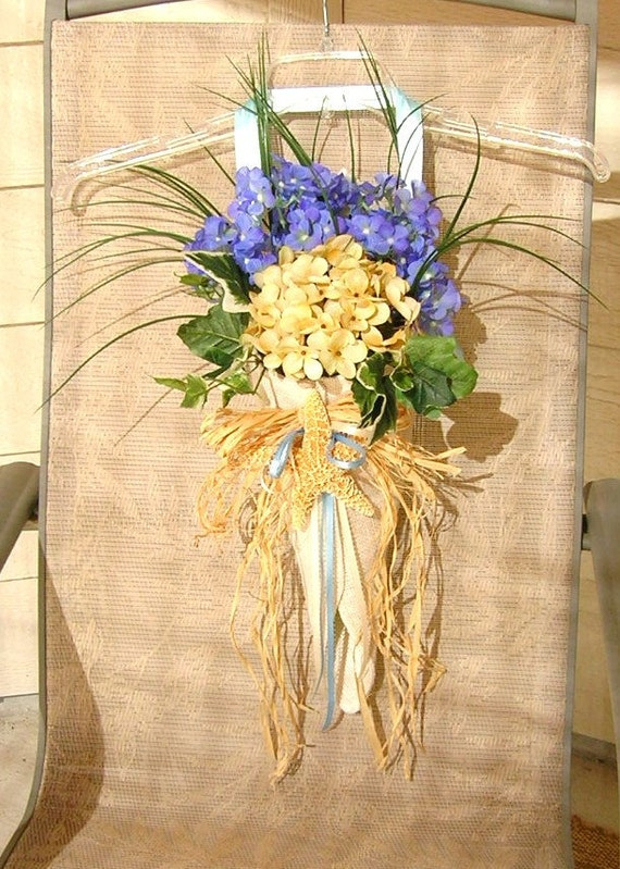 Wedding Flower Pew Cone Decoration Burlap With By Sljbridal
